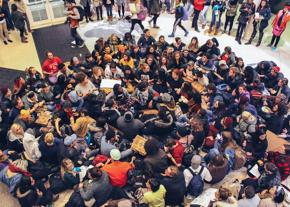 Occupying Baker University Center over the demand to make Ohio University a sanctuary campus