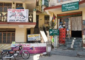 The Peace Cafe in the Indian city of Dharamsala