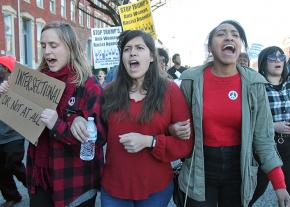 Protesters take to the streets of Baltimore on International Women's Day