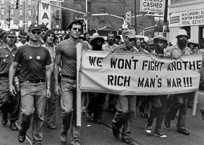 Members of Vietnam Veterans Against the War on the march