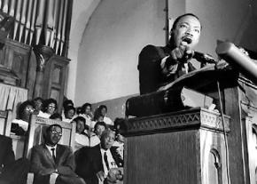 """Martin Luther King delivers his """"Beyond Vietnam"""" speech at Riverside Church in New York City"""