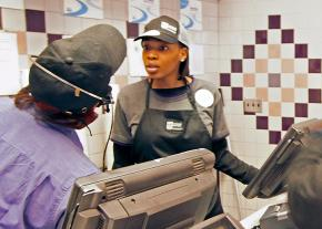 McDonald's workers on the job in Milwaukee