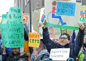 Protesters take to the streets for disability rights in Ireland