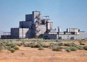 One of the buildings at the Hanford Nuclear Site