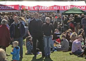 A May Day festival in Copenhagen