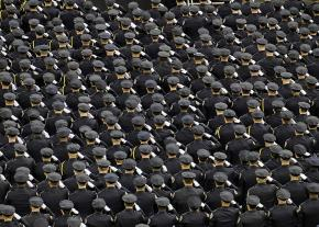 Graduating police officers are inducted into the New York Police Department