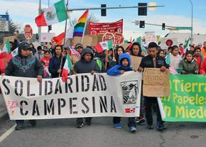 Farmworkers march for a fair contract in Washington state