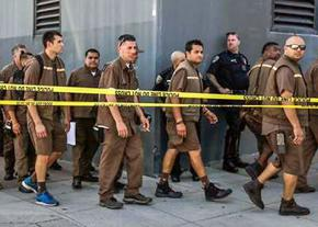 UPS workers in San Francisco evacuate following a deadly shooting