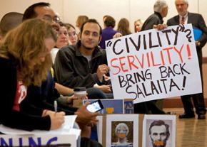 Protesters defend Steven Salaita at the University of Illinois at Urbana-Champaign