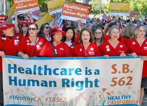 California nurses take to the streets to demand universal health care