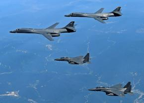 B1-B bombers deployed to the Korean Peninsula