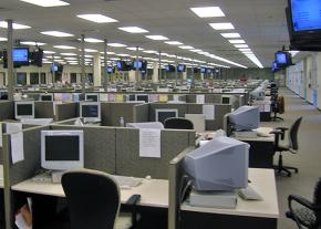 A call center office in Lakeland, Florida