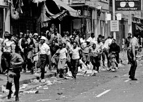 In the streets during the Great Rebellion of 1967