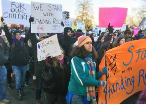 Marching in solidarity with Standing Rock in Washington, D.C.