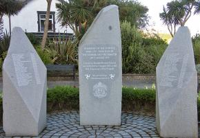 A memorial to the victims of the Summerland Fire on the Isle of Man