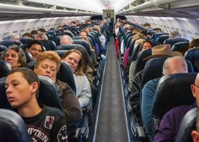 Airlines are cramming more and more passengers onto each flight