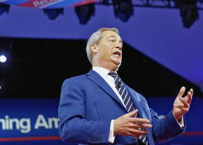 Former UKIP leader Nigel Farage addresses the Conservative Political Action Conference in Maryland