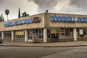 The Goodwill store in Sacramento where Abraham Garza was killed on the job