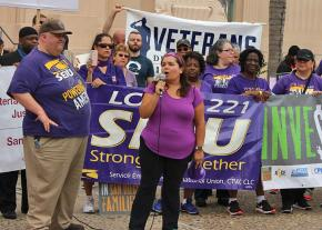 San Diego County workers protest for dignity on the job