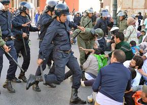 Police crack down on peaceful protesters in Rabat, Morocco