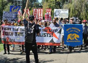 "Opponents of the ""alt-right"" mobilize at UC Berkeley"