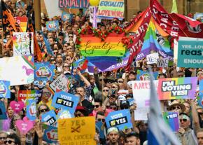 Thousands demonstrate for equal marriage rights in Australia