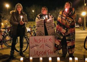 A candlelight vigil for Jason Pero