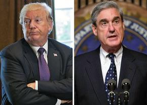 Donald Trump (left) and Robert Mueller (right)