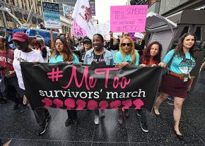 The #MeToo movement in the streets of Hollywood to protest sexual violence