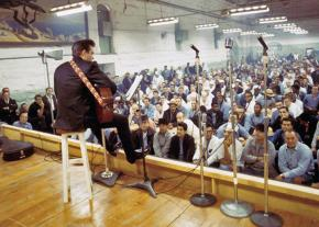 Johnny Cash performs at Folsom Prison