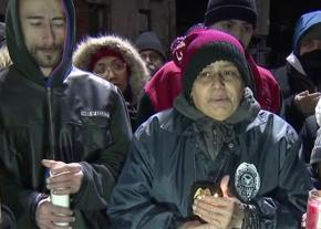 At a vigil for the victims of the Bronx fire