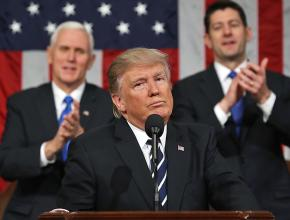 Donald Trump delivers his first State of the Union Address in the Capitol