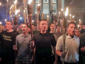 Fascists on the march in Charlottesville, Virginia