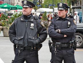 New York City police on patrol