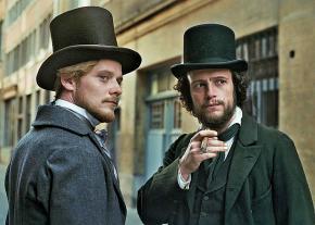 August Diehl (right) as Karl Marx and Stefan Konarske as Friedrich Engels in the movie The Young Karl Marx