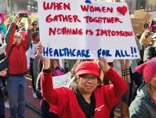 Taking to the streets for women's rights in San Francisco
