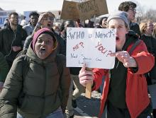 Students stage a walkout for gun reform in St. Paul, Minnesota