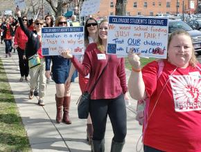 Colorado teachers on the march to demand education justice