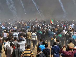 Tear gas canisters rain down on Palestinian protesters during Land Day demonstrations