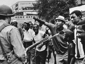 In the streets of Newark, New Jersey in 1968