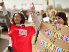 Striking teachers and supporters build solidarity in Oklahoma