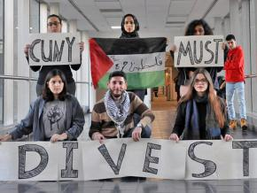 Students demand divestment from Israeli apartheid at the City University of New York