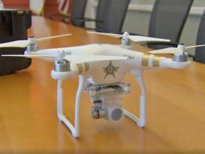 A police surveillance drone