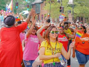 On the march for LGBTQ rights during Pride 2018 in Washington, D.C.