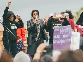 Rallying against sexism on International Women's Day in Los Angeles