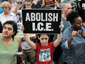 Protesting the ICE reign of terror against immigrants