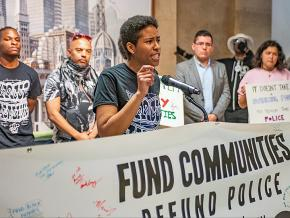 Anti-racists protest plans to build a $95 million police academy in Chicago
