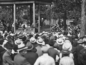 Eugene V. Debs gives his antiwar speech in Canton, Ohio