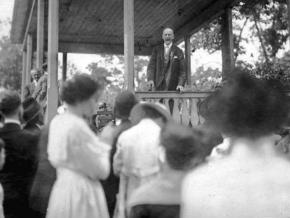 Eugene V. Debs speaks in Canton, Ohio, in June 1918