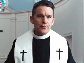 Ethan Hawke as Rev. Ernst Toller in First Reformed